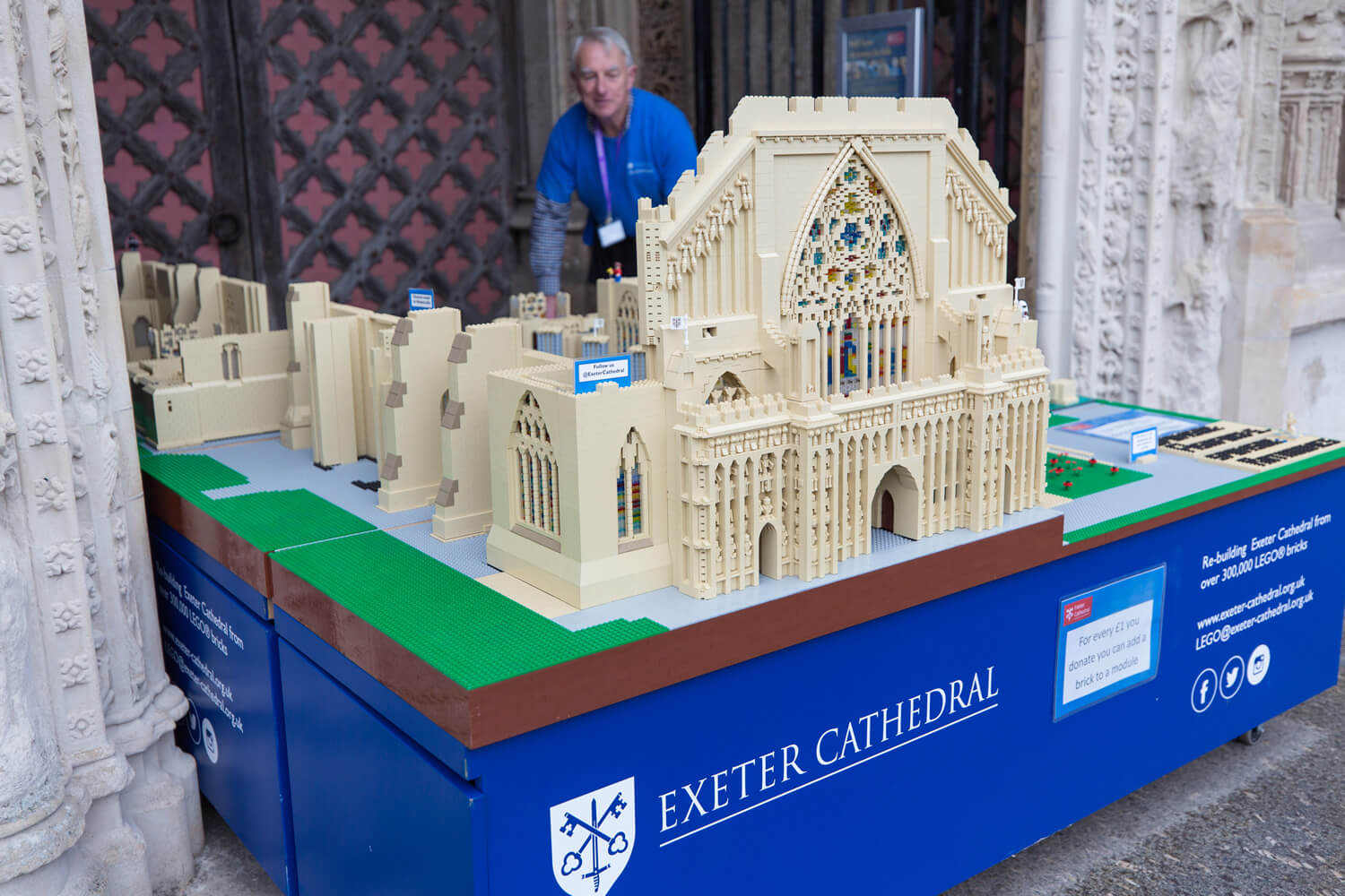 Big LEGO build at Exeter Cathedral | Things to do in Exeter
