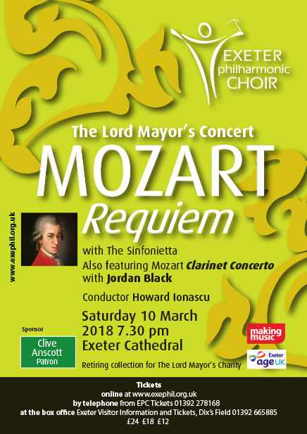 Mozart Requiem and Clarinet Concerto