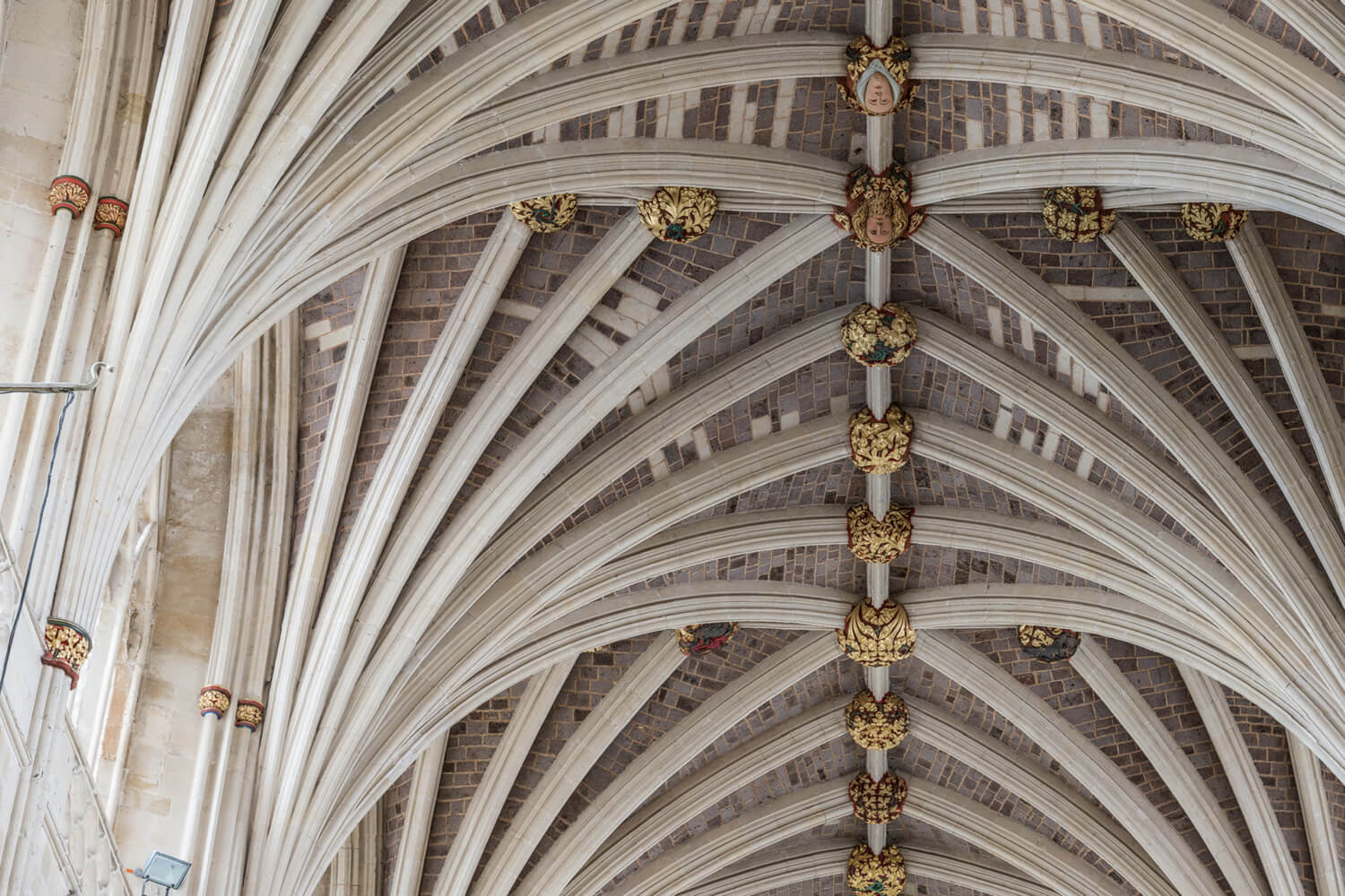 Vaulted Ceiling At Exeter Cathedral