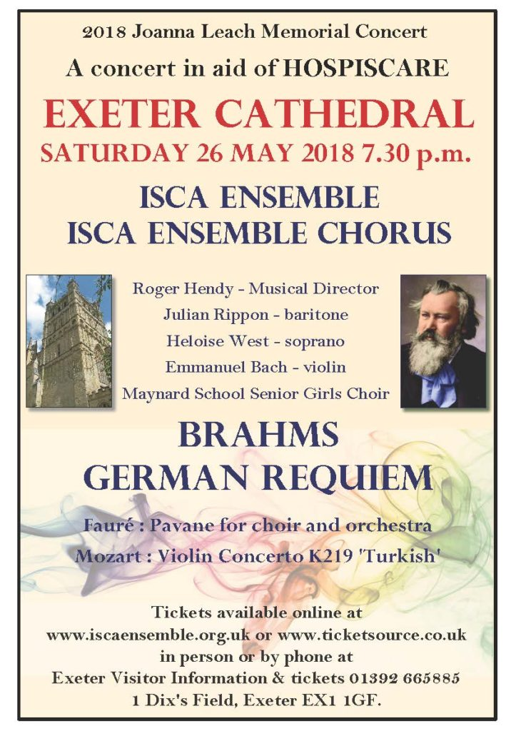 Brahms Requiem for Hospiscare - Exeter Cathedral