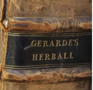 Label for Gerarde's Herbal